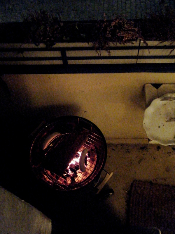 Our barbecue on the balcony