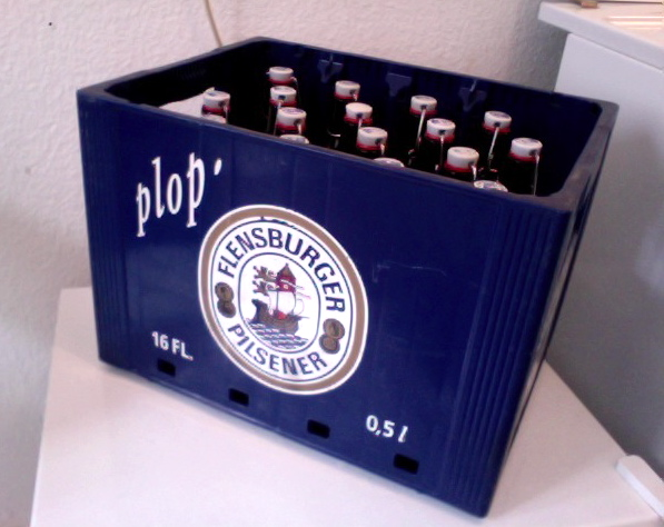 A Kasten of Flensburger Pils