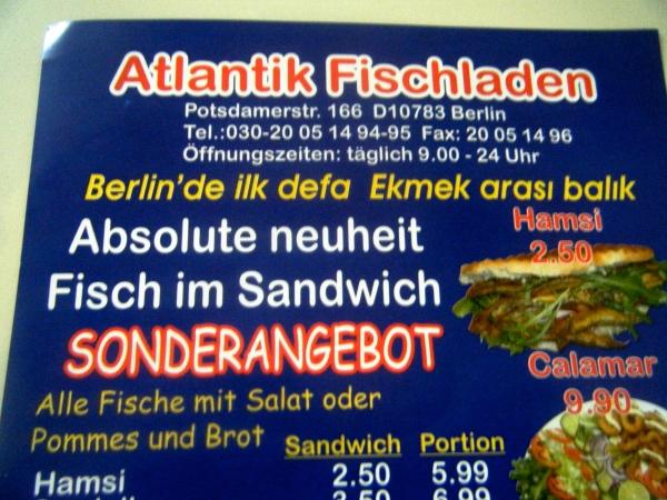 Fisch im Sandwich